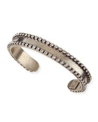 DANNIJO - Metallic Lane Chain & Crystal Cuff Bracelet - Lyst