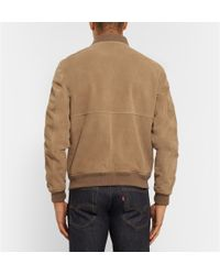 A.P.C. - Brown Louis W. Ferris Suede Bomber Jacket for Men - Lyst
