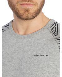 Björn Borg - Gray Hooded Logo Jumper for Men - Lyst