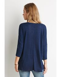 Forever 21 - Blue Dolman-sleeved Pocket Top You've Been Added To The Waitlist - Lyst