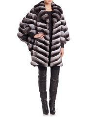 Saks Fifth Avenue - Gray Chinchilla Fur Coat - Lyst