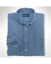 Polo Ralph Lauren - White Classic Gingham Oxford Shirt for Men - Lyst