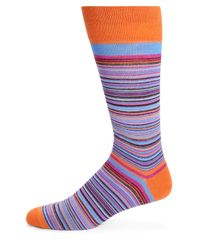 Saks Fifth Avenue - Multicolor Merino Wool-blend Multistriped Socks for Men - Lyst