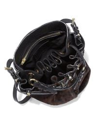 Alexander Wang - Black Diego Calf Hair Leather Flatback Bucket Bag - Lyst