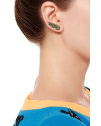 Runa - Green White Widow Tsavorites Single Earring - Lyst