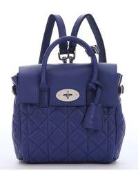 Mulberry - Blue Indigo Lambskin Mini 'Cara Delevingne' Convertible Shoulder Bag - Lyst