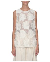 Erika Cavallini Semi Couture - White Koyo Cotton Top - Lyst