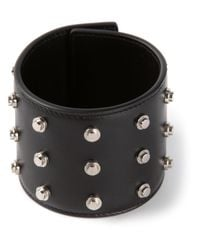 Saint Laurent | Black Studded Cuff Bracelet | Lyst