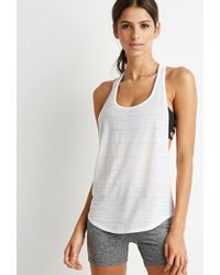 Forever 21 - White Active Burnout Racerback Tank - Lyst