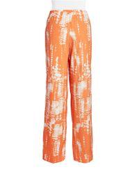 Calvin Klein | Orange Printed Pants | Lyst