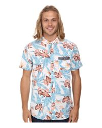 Rip Curl | Blue Ventura Short Sleeve Shirt for Men | Lyst