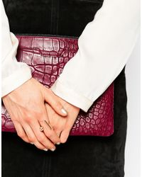 ASOS | Metallic Bar And Bead Ring | Lyst
