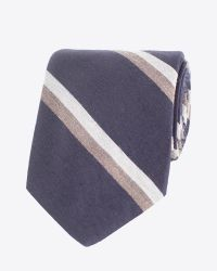 Billy Reid - Blue Stripe Tie for Men - Lyst