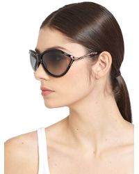 Roberto Cavalli - Blue Swarovski Crystal Serpent Oversized Sunglasses - Lyst