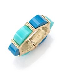 ABS By Allen Schwartz | Metallic Seaglass Brights Stone Bangle Bracelet | Lyst