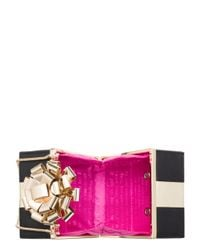 kate spade new york - Black Square Gift Box Clutch - Lyst