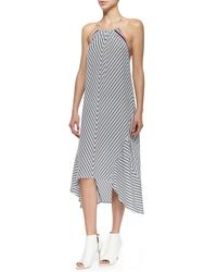 Joie - Gray Tilde Striped Maxi Dress - Lyst
