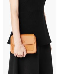 Mango - Brown Pebbled Cross-body Bag - Lyst
