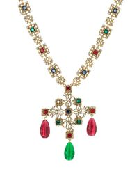Kenneth Jay Lane | Multicolor Embellished Necklace - Gold | Lyst