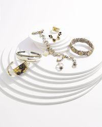 Konstantino | Metallic Three Mother Of Pearl Charm Bracelet | Lyst
