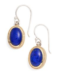Anna Beck | Blue Stone Drop Earrings | Lyst