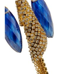 Erickson Beamon - Blue Telepathic Gold-Plated Swarovski Crystal Earrings - Lyst