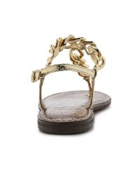 Sam Edelman | Brown Oliver Metallic Synthetic Thong Sandals | Lyst