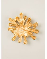 Christian Lacroix Metallic Crystal Pin Brooch