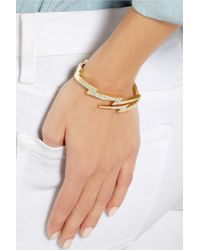 Anita Ko - Metallic Lightning Bolt 18karat Gold Diamond Bracelet - Lyst