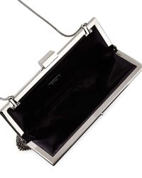 Badgley Mischka - Black Saffron Crystal Evening Clutch Bag - Lyst