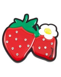 MUVEIL | Red Strawberry Brooch | Lyst
