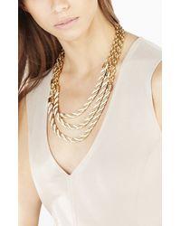 BCBGMAXAZRIA | Metallic Twisted Seed Bead Necklace | Lyst