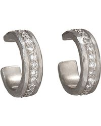 Malcolm Betts - Metallic White Diamond & Hammered Platinum Half - Lyst