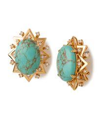 Lele Sadoughi - Blue Howlite & Marble Resin Sunshine Earrings - Lyst