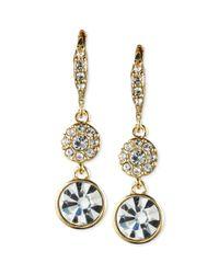 Givenchy | Metallic Teardrop Crystal Drop Earrings | Lyst