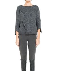 Leon Max - Gray Hand-knitted Wool & Alpaca Pullover - Lyst