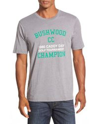 Travis Mathew | Gray 'bushwood' Short Sleeve T-shirt for Men | Lyst