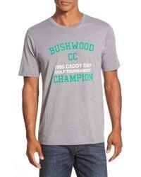 Travis Mathew | Gray 'bushwood' Short Sleeve T-shirt for Men | Lyst