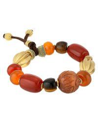 Lauren by Ralph Lauren - Multicolor Caravan Large Multi Beads with Suede Stretch Bracelet - Lyst