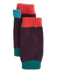 Brora - Purple Colorblock Cashmere Wrist Warmers - Lyst