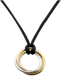 Cartier | Metallic Trinity De 18ct Pink, Yellow And White-gold Pendant Necklace | Lyst