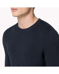 Tommy Hilfiger | Blue Cotton Sweater for Men | Lyst