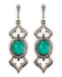 Armenta | Blue New World Open Oval Earrings With Diamonds | Lyst