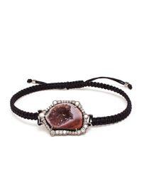 Kimberly Mcdonald - Red Geode, Black Rhodium And Diamond Bracelet - Lyst