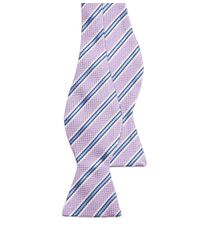 Brooks Brothers - Purple Oxford Stripe Bow Tie for Men - Lyst