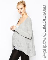 ASOS | Gray Maternity Lounge Tunic Top With Twist | Lyst