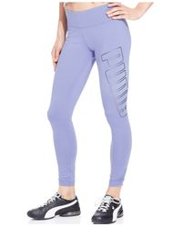 PUMA | Blue Logo Leggings | Lyst
