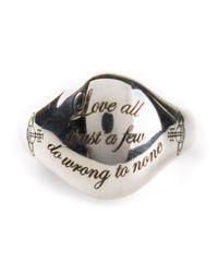 Vivienne Westwood | Metallic William Ring for Men | Lyst