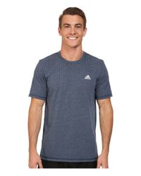Adidas | Blue Aeroknit Short Sleeve Tee for Men | Lyst