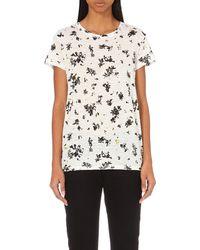 Proenza Schouler - Printed Cotton-jersey T-shirt, Women's, Size: M, White & Black - Lyst